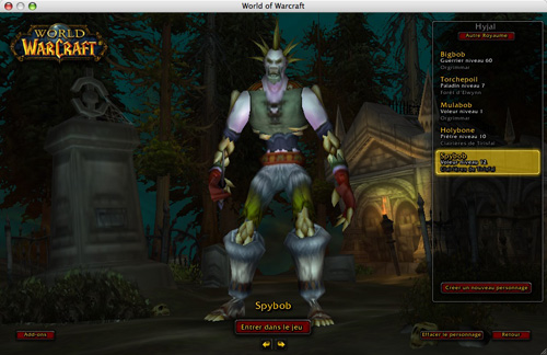 Test skymac : World of Warcraft