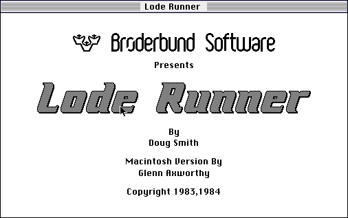 Retro-test skymac : Lode Runner - Ouverture