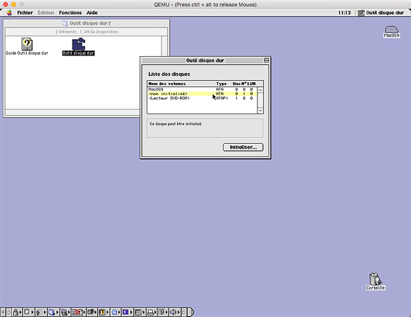 Installer MacOS 9 2 2 sur QEMU - skymac org