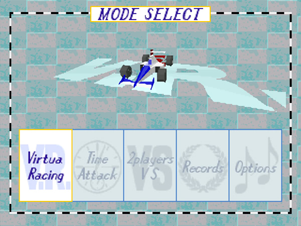 Virtua Racing Deluxe sur 32X - Menu