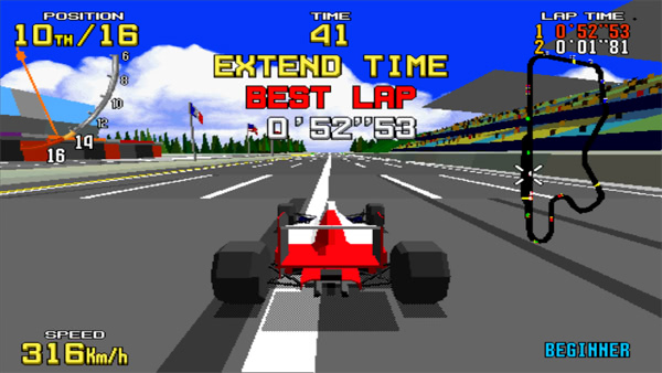 Virtua Racing sur Arcade - En course