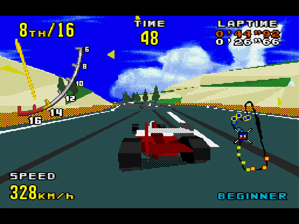 Virtua Racing sur Megadrive - En course