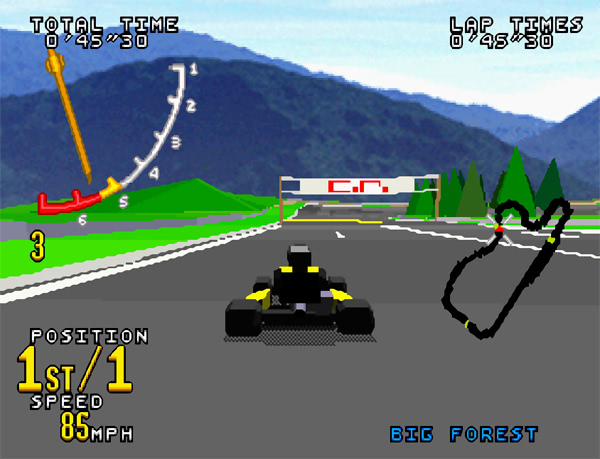 Virtua Racing sur Saturn - Go Kart en course