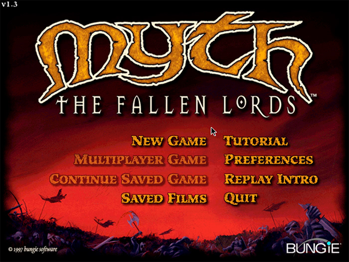 Retro-test : Menu de Myth - The Fallen Lords