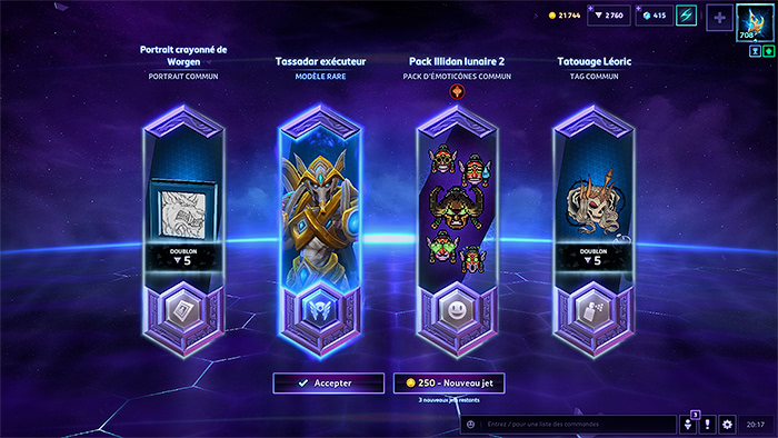 Heroes of the Storm - Un coffre ouvert