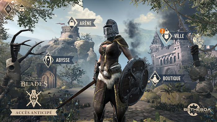 The Elder Scrolls: Blades - Menu principal