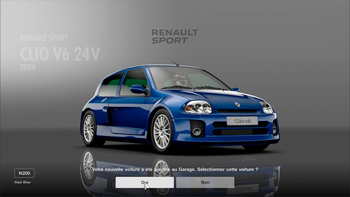 GT Sport : Renault Sport Clio V6 Phase 1