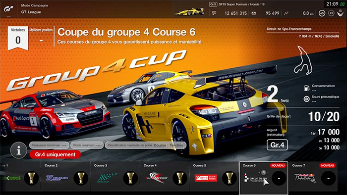 GT Sport : Coupe Groupe 4